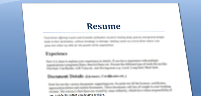 Quick And Simple Truck Driver Resume Preparation Steps